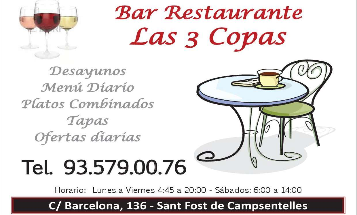 bar restaurante las 3 copas
